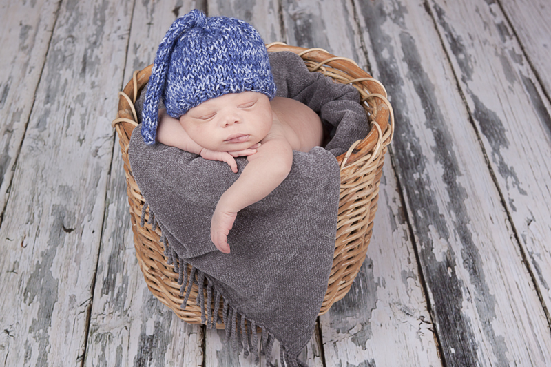 Newborn Frisco Photographer | Newborn in basket