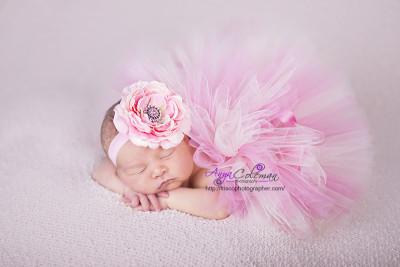 Beautiful Newborn baby in Frisco TX photography studio.